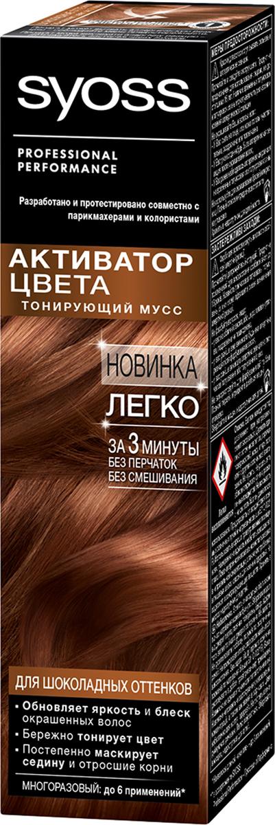 Syoss Активатор Цвета для шоколадных оттенков 75 мл syoss активатор цвета для темных оттенков 75 мл