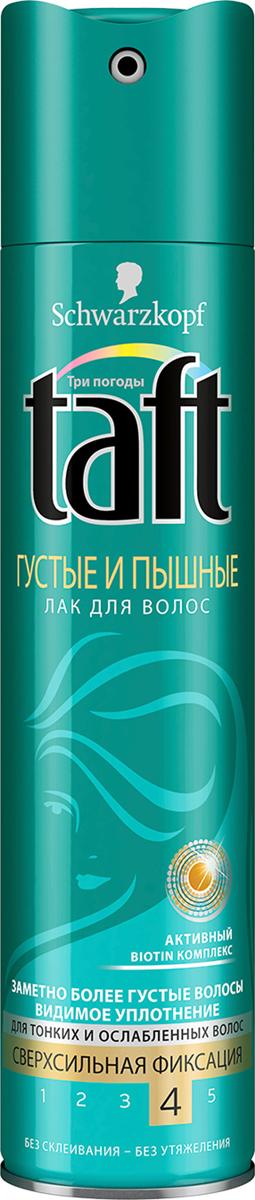 Taft Classic Лак Густые и Пышные cверхсильная фиксация, 225 мл2010393Заметно более густые волосы – сверхсильная фиксация. Taft Густые и Пышные для заметно более густых волос. Создает эффект видимого уплотнения волос и густоты, поддерживая укладку в течение всего дня!- 48 часов фиксации без склеивания, не оставляет