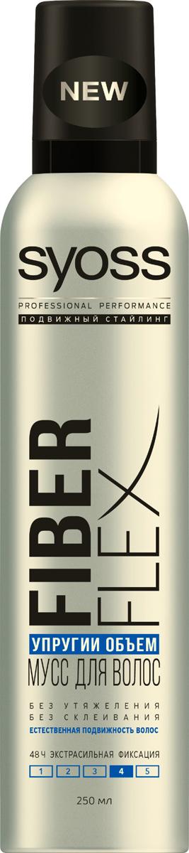 Syoss FiberFlex Упругий Объем мусс для волос экстрасильной фиксации 250 мл9034807Без утяжеления - без склеивания - естественная подвижность волос