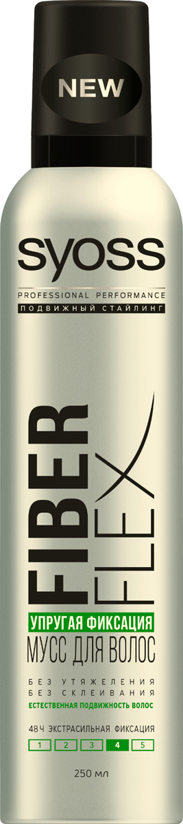 Syoss FiberFlex Упругая Фиксация мусс для волос экстрасильной фиксации 250 мл мусс для волос упругий объем fiberflex syoss 250 мл