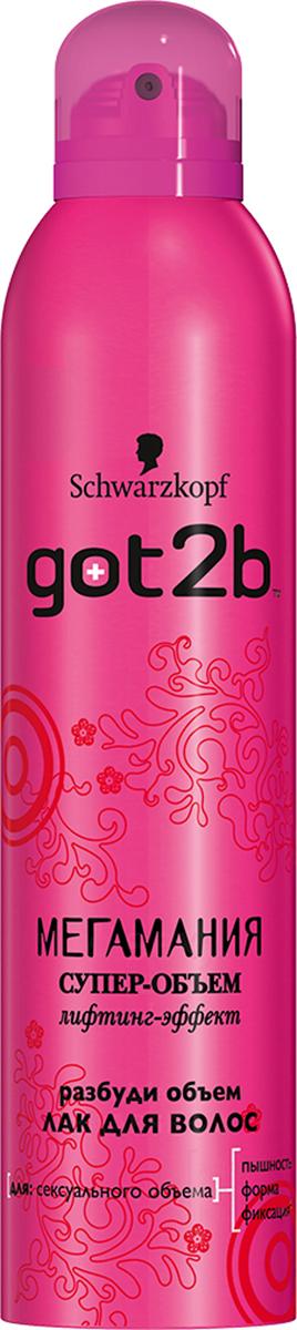 Got2b Лак для волос Мегамания, с ароматом малины, 300 мл got2b лак для волос стальная хватка 300 мл