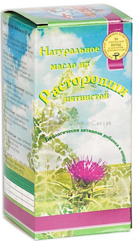 Масло Расторопши пятнистой масло флакон 100 мл15195Расторопша пятнистая является растительным гепатопротектором – она защищает клетки печени от любых вредных воздействий. В состав масла расторопши пятнистой входят силимарин, полиненасыщенные жирные кислоты (линолевая, линоленовая, олеиновая, пальмитиновая, стеариновая), бета-каротин (в организме человека он превращается в витамин А), витамины Е и С (активные антиоксиданты), моно- и дисахариды, минеральные вещества. Сфера применения: ГепатологияРегенерирующее