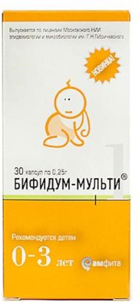 Бифидум-мульти-1 капсулы №30217772Сфера применения: ГастроэнтерологияПробиотическое и пребиотическое