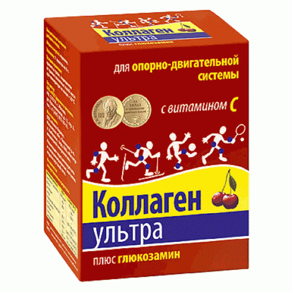 Коллаген Ультра плюс глюказамин 8 г пакетик №7 (вкус вишни)
