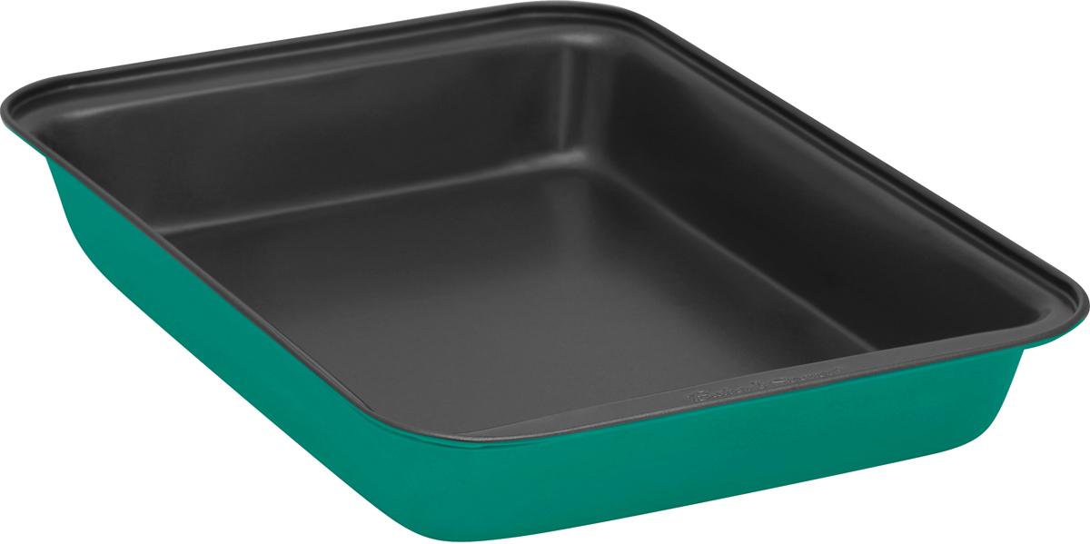 Форма для выпечки Bakers Secret Colors. Pine Green, 33 х 23 см, цвет: зеленый. 1115725GR3065_зеленыйФорма для выпечки Bakers Secret Colors выполнена из высококачественной стали. Внешнее антипригарное покрытие для удобства ухода и утолщенные стенки гарантируют равномерное пропекание изделия.Стальные формы для запекания стали популярными намного позже чугунных и керамических, и главное их преимущество - это абсолютная химическая нейтральность. Качественная нержавеющая сталь никак не скажется на вкусе готовой пищи и не будет подвержена воздействию кислот и щелочей, содержащихся в моющих средствах.Можно мыть в посудомоечной машине.