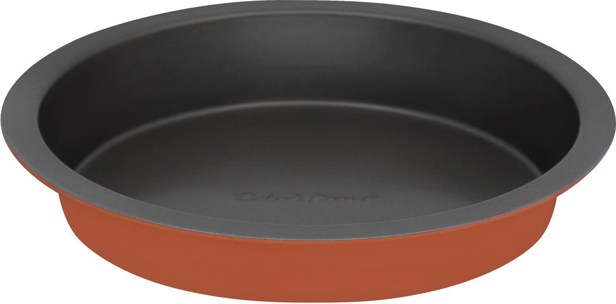 Форма для выпечки Bakers Secret Colors. Pumpkin, диаметр 20,3 см, цвет: оранжевый. 11157271115727Форма для выпечки Bakers Secret Colors выполнена из высококачественной стали. Внешнее антипригарное покрытие для удобства ухода и утолщенные стенки гарантируют равномерное пропекание изделия.Стальные формы для запекания стали популярными намного позже чугунных и керамических, и главное их преимущество - это абсолютная химическая нейтральность. Качественная нержавеющая сталь никак не скажется на вкусе готовой пищи и не будет подвержена воздействию кислот и щелочей, содержащихся в моющих средствах.Можно мыть в посудомоечной машине.