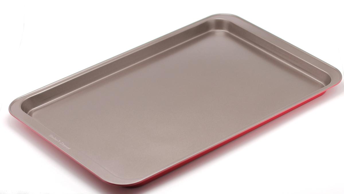 Форма для выпечки печенья Bakers Secret Colors. Red Velvet, цвет: красный. 11232181123218Форма для выпечки печенья Bakers Secret Colors. Red Velvet выполнена из высококачественной стали. Внешнее антипригарное покрытие для удобства ухода и утолщенные стенки гарантируют равномерное пропекание изделия. Стальные формы для запекания стали популярными намного позже чугунных и керамических, и главное их преимущество - это абсолютная химическая нейтральность. Качественная нержавеющая сталь никак не скажется на вкусе готовой пищи и не будет подвержена воздействию кислот и щелочей, содержащихся в моющих средствах.Можно мыть в посудомоечной машине.