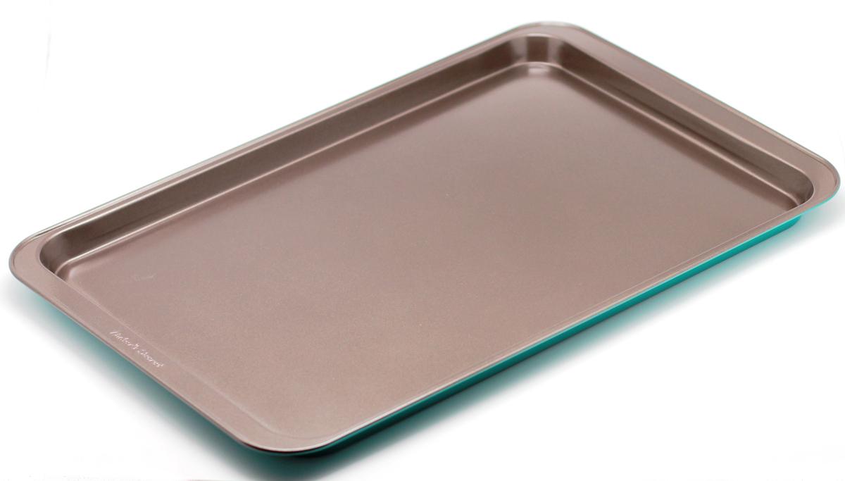Форма для выпечки печенья Bakers Secret Colors. Pine Green, цвет: зеленый. 11240611124061Форма для выпечки печенья Bakers Secret Colors выполнена из высококачественной стали. Внешнее антипригарное покрытие для удобства ухода и утолщенные стенки гарантируют равномерное пропекание изделия. Стальные формы для запекания стали популярными намного позже чугунных и керамических, и главное их преимущество - это абсолютная химическая нейтральность. Качественная нержавеющая сталь никак не скажется на вкусе готовой пищи и не будет подвержена воздействию кислот и щелочей, содержащихся в моющих средствах.Можно мыть в посудомоечной машине.