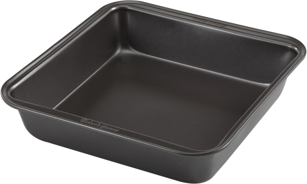 Форма для выпечки Bakers Secret Essentials, 20,3 х 20,3 см, цвет: темно-серый. 11144361114436Форма для выпечки Bakers Secret Essentials выполнена из высококачественной стали. Внешнее антипригарное покрытие для удобства ухода и утолщенные стенки гарантируют равномерное пропекание изделия.Стальные формы для запекания стали популярными намного позже чугунных и керамических, и главное их преимущество - это абсолютная химическая нейтральность. Качественная нержавеющая сталь никак не скажется на вкусе готовой пищи и не будет подвержена воздействию кислот и щелочей, содержащихся в моющих средствах.Можно мыть в посудомоечной машине.
