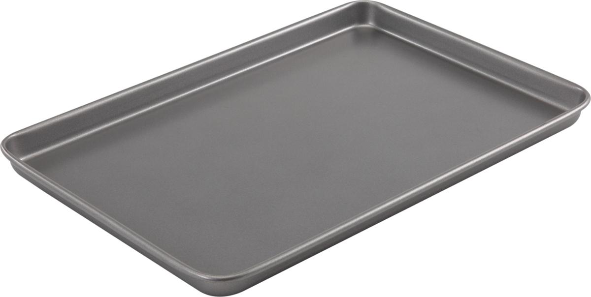 Форма для выпечки печенья Bakers Secret Essentials, цвет: серый, 25,4 х 38,1 см. 11167501116750Форма для выпечки печенья Bakers Secret Essentials выполнена из высококачественной стали. Внешнее антипригарное покрытие для удобства ухода и утолщенные стенки гарантируют равномерное пропекание изделия.Стальные формы для запекания стали популярными намного позже чугунных и керамических, и главное их преимущество - это абсолютная химическая нейтральность. Качественная нержавеющая сталь никак не скажется на вкусе готовой пищи и не будет подвержена воздействию кислот и щелочей, содержащихся в моющих средствах.Можно мыть в посудомоечной машине.