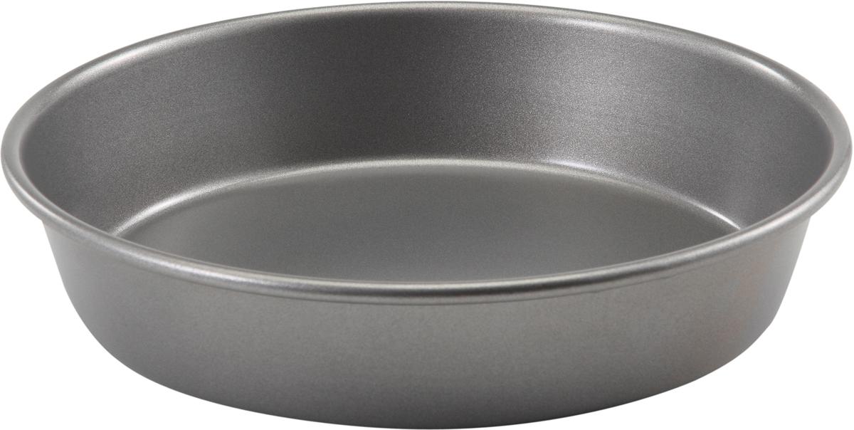 Форма для выпечки Bakers Secret Essentials, диаметр 23 см, цвет: серый. 11167651116765Форма для выпечки Bakers Secret Essentials выполнена из высококачественной стали. Внешнее антипригарное покрытие для удобства ухода и утолщенные стенки гарантируют равномерное пропекание изделия.Стальные формы для запекания стали популярными намного позже чугунных и керамических, и главное их преимущество - это абсолютная химическая нейтральность. Качественная нержавеющая сталь никак не скажется на вкусе готовой пищи и не будет подвержена воздействию кислот и щелочей, содержащихся в моющих средствах.Можно мыть в посудомоечной машине.