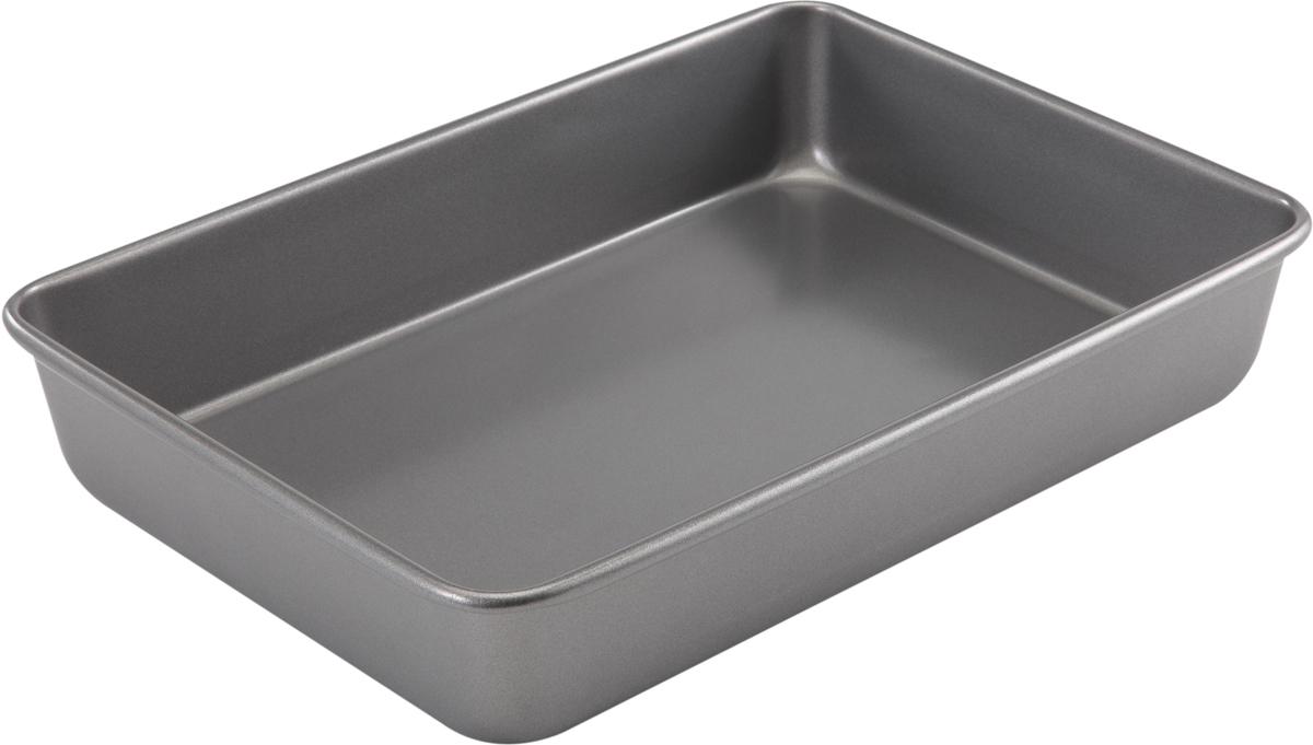 Форма для выпечки Bakers Secret Essentials, 23 х 33 см, цвет: серый. 11167661116766Форма для выпечки Bakers Secret Essentials выполнена из высококачественной стали. Внешнее антипригарное покрытие для удобства ухода и утолщенные стенки гарантируют равномерное пропекание изделия.Стальные формы для запекания стали популярными намного позже чугунных и керамических, и главное их преимущество - это абсолютная химическая нейтральность. Качественная нержавеющая сталь никак не скажется на вкусе готовой пищи и не будет подвержена воздействию кислот и щелочей, содержащихся в моющих средствах.Можно мыть в посудомоечной машине.