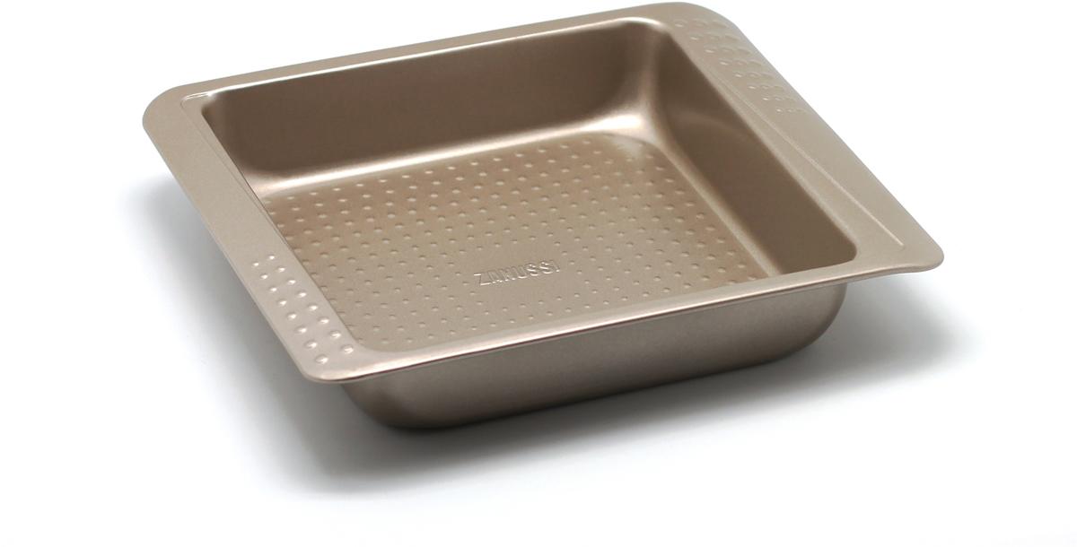 Форма для выпечки Zanussi Turin, 27,5 х 23,4 х 5 см, цвет: бронзовый. ZAC21112CF zanussi форма для 6 маффинов turin 32х19 5х3 см