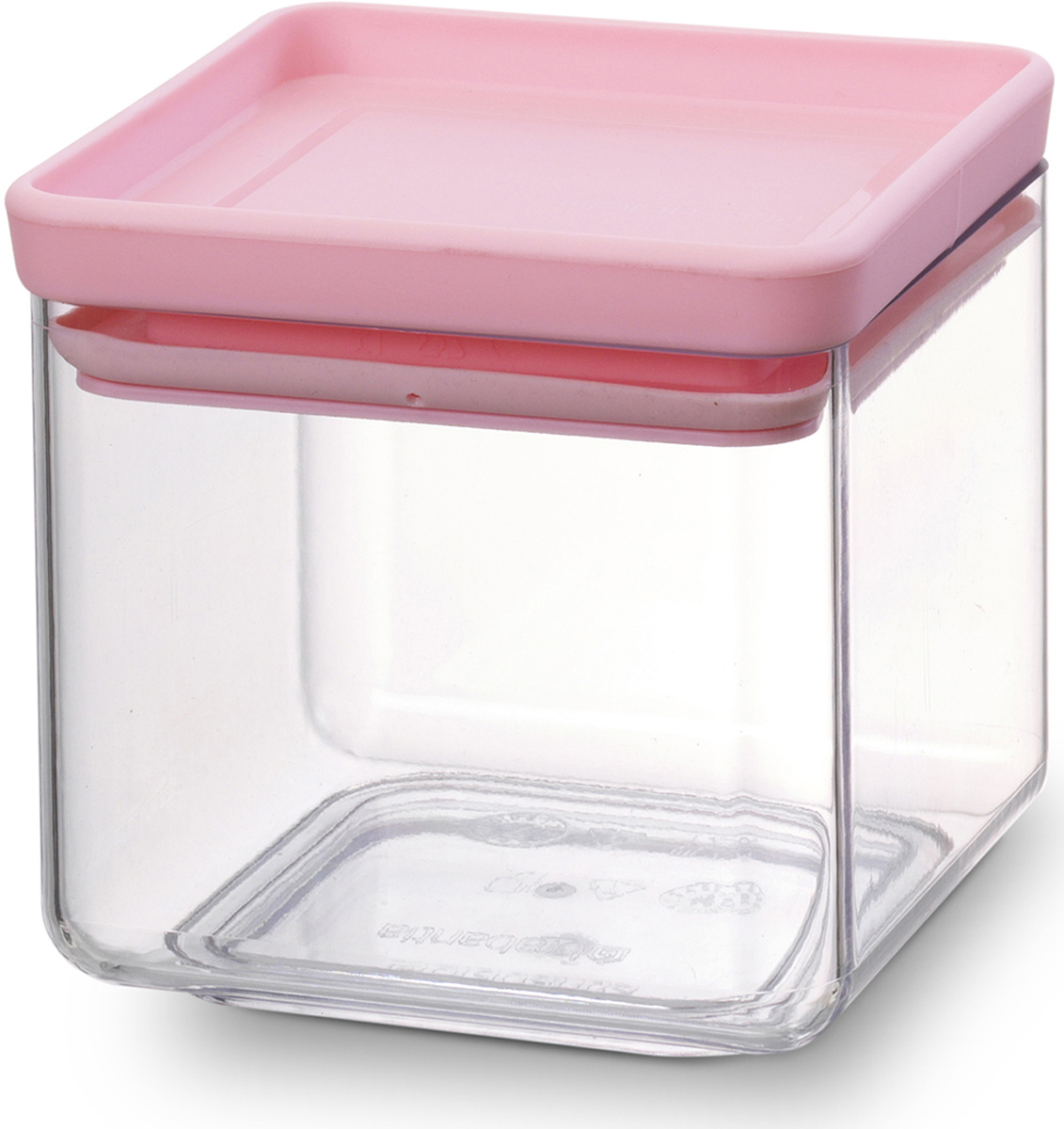 Контейнер для сыпучих продуктов Brabantia Tasty Colors, цвет: прозрачный, розовый, 700 мл. 290060290060_розовыйКонтейнер для сыпучих продуктов Brabantia Tasty Colors изготовлен из высококачественного пластика и предназначен для хранения сыпучих продуктов. Изделие имеет крышку с силиконовым уплотнителем, благодаря которому продукты надолго сохраняют свежесть и аромат. Преимущества: Хорошо видно содержимое и его количество Можно мыть в посудомоечной машине Прозрачный материал, благодаря которому видно содержимое контейнера.Занимает мало места - контейнеры имеют прямоугольную форму и составляются один на другой. Размеры: 11 х 10,5 х 11 см.