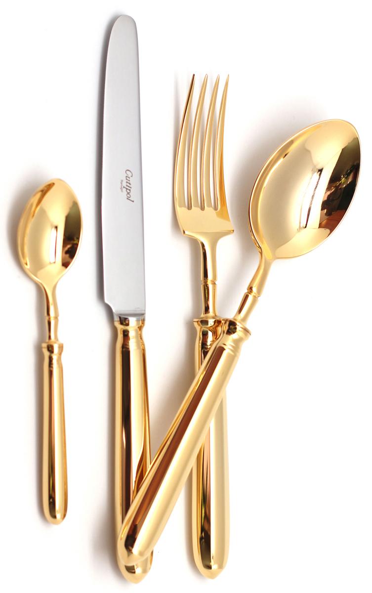 Набор столовых приборов Cutipol Mithos Gold, цвет: золотой, 24 предмета. 9151 набор столовых приборов apollo vision 24 предмета vsn 24