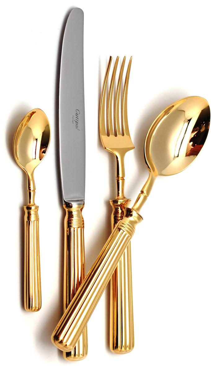 Набор столовых приборов Cutipol Line Gold, цвет: серебристый, 24 предмета. 9171 набор столовых приборов apollo bar 24 barolo