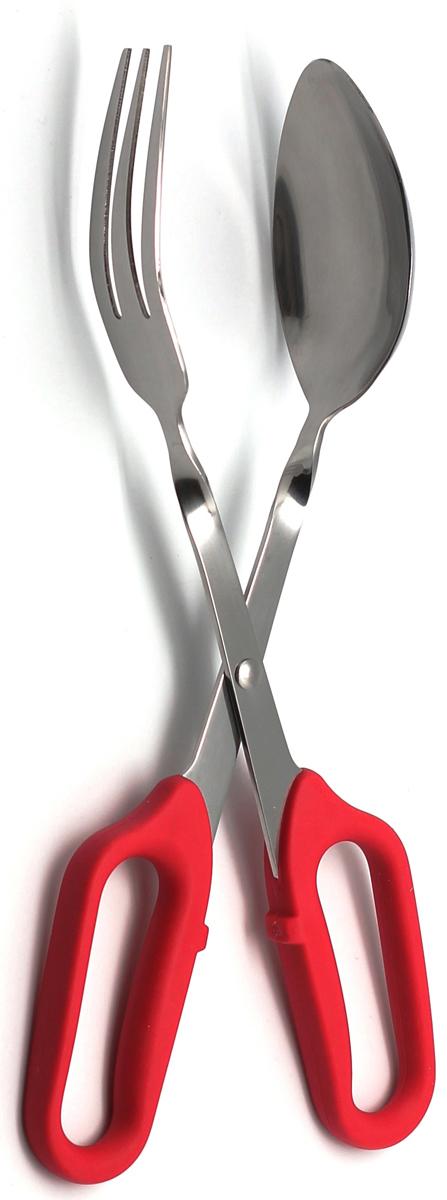 Щипцы кулинарные Atlantis, для салата, цвет: красный. 18LF-1004-R18LF-1004-RЩипцы для салата Atlantis идеально подойдут для того, чтобы аккуратно разложить порции приготовленной пищи по тарелкам. Щипцы изготовлены из высококачественной стали и пластика. Ручки щипцов выполнены в виде ножниц, а сами щипцы сделаны в виде вилки и ложки, что позволит легко захватывать пищу. Такие щипцы станут незаменимым аксессуаром на вашей кухне. Характеристики:Материал: сталь, пластик. Цвет: красный. Длина: 29,5 см. Размер упаковки: 36,5 см х 12,5 см х 6 см. Артикул: 18LF-1004-R.
