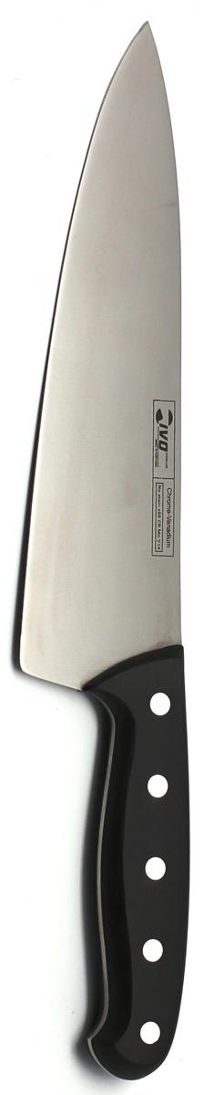 Нож Ivo, поварской, длина лезвия 20,5 см9039.20Нож Ivo изготовлен из высококачественной нержавеющей стали стали. Благодаря острому лезвию, такой нож прекрасно подойдет для очистки, разделки и нарезки фруктов, овощей и мяса. Рукоятка, выполненная из пластика, удобно лежит в руке, не скользит и делает резку удобной и безопасной.Практичный и функциональный нож Ivo займет достойное место среди аксессуаров на вашей кухне. Характеристики:Материал: сталь, пластик. Общая длина ножа: 34 см. Длина лезвия: 20,5 см. Ширина лезвия: 5,5 см. Размер упаковки: 41 см х 8 см х 2 см. Артикул: 9039.20.