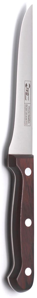 Нож обвалочный Ivo, длина лезвия 14 см. 1200412004Нож обвалочный Ivo изготовлен из высококачественной стали. Рукоятка, выполненная из пластика с оформлением под дерево, удобно лежит в руке, не скользит и делает резку удобной и безопасной.Практичный и функциональный нож Ivo займет достойное место среди аксессуаров на вашей кухне. Характеристики:Материал: сталь, пластик. Общая длина ножа: 25,5 см. Длина лезвия: 14 см. Ширина лезвия: 2 см. Размер упаковки: 35 см х 9,5 см х 2 см. Артикул: 12004.