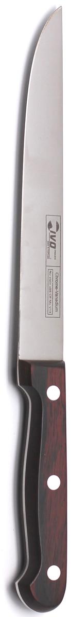 Нож для резки мяса Ivo, длина лезвия 18 см. 1202612026Нож для резки мяса Ivo изготовлен из высококачественной стали. Рукоятка, выполненная из пластика с оформлением под дерево, удобно лежит в руке, не скользит и делает резку удобной и безопасной.Практичный и функциональный нож Ivo займет достойное место среди аксессуаров на вашей кухне. Характеристики:Материал: сталь, пластик. Общая длина ножа: 29,5 см. Длина лезвия: 18 см. Ширина лезвия: 2,3 см. Размер упаковки: 35 см х 9,5 см х 2 см. Артикул: 12026.