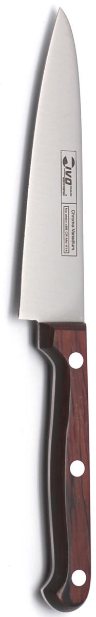 Нож для чистки Ivo, длина лезвия 12 см. 1231312313Нож для чистки Ivo изготовлен из нержавеющей стали. Рукоятка, выполненная из пластика оформленного под дерево, удобно лежит в руке, не скользит и делает резку удобной и безопасной. Лезвие прекрасно подходит для очистки от кожуры овощей и фруктов. Практичный и функциональный нож Ivo займет достойное место среди аксессуаров на вашей кухне. Характеристики:Материал: нержавеющая сталь, пластик.Длина лезвия: 12 см.Ширина лезвия: 2,5 см.Общая длина ножа: 22,5 см.Размер упаковки: 30 см х 9,5 см х 1,5 см.Артикул: 12313.