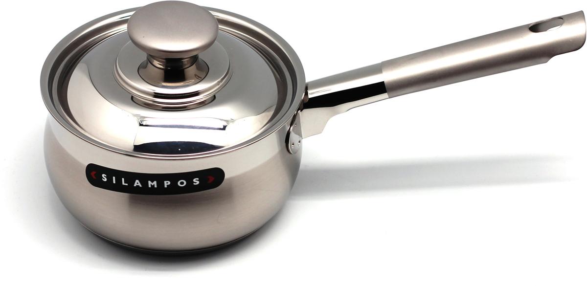 Сотейник Silampos Venice Satin, цвет: металл, 1,6 л. 633123DV1116633123DV1116Сотейник Silampos Venice Satin изготовлен из высококачественной нержавеющейстали. Посуда имеет матовую внешнюю полировку.Термическое дно Impact Disc Plus разработано с применением передовойтехнологии соединения диска с дном посуды и защитной оболочкой изнержавеющей стали под высоким давлением. Специальные изогнутые бортикипосуды обеспечивают легкое иаккуратное выливание жидкости. Крышка, выполненная из нержавеющей стали,плотно прилегает к краю посуды. Сотейник можно использовать на всех типах плит, включая индукционные.Высота стенки: 8,5 см. Длина ручки: 16 см.
