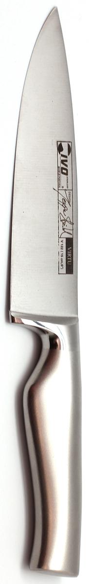 Нож поварской Ivo, длина лезвия 15 см. 30039.1530039.15Поварской кованый нож оптимально сбалансирован и имеет широкий спектр применения: нарезка овощей, фруктов, зелени, шинковка капусты, быстрое измельчение продуктов, нарезка порционных кусков мяса и рыбы, даже замороженных. Современный дизайн и максимальная гигиеничность делают эту модель желанным подарком к любому празднику. Ножевые изделия коллекции Virtu неоднократно завоевывали награды на престижных мировых конкурсах в Кубе и Швеции за свой инновационный дизайн и отличные режущие свойства.