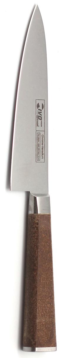 Нож для чистки Ivo, длина лезвия 12 см. 33062.1233062.12Нож кованый для чистки IVO Cork подойдет для чистки (снятия кожуры), а также нарезки маленьких овощей и фруктов. Практичный и функциональный нож займет достойное место среди аксессуаров на вашей кухне. Немецкая молибден-ванадиевая сталь наделяет ножи износостойкостью и устойчивостью к внешним воздействиям, поэтому ножевые изделия Cork будут радовать своих обладателей безупречной работой долгие годы.