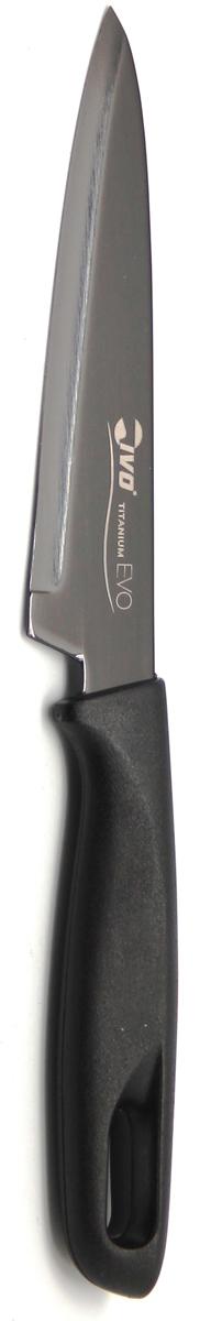 Нож кухонный Ivo, цвет: черный, длина лезвия 12 см. 221062.12221062.12Кухонный нож Ivo изготовлен из высококачественной нержавеющей стали. Удобная рукоятка ножа, покрытая пластиком черного цвета, не позволит выскользнуть ему из руки. Кухонный нож Ivo займет достойное место среди аксессуаров на вашей кухне. Характеристики:Материал: нержавеющая сталь, пластик.Цвет: черный.Длина лезвия: 12 см.Ширина лезвия: 2,5 см.Общая длина ножа: 23,5 см.Размер упаковки: 33,5 см х 8 см х 2 см.Артикул: 221062.12.