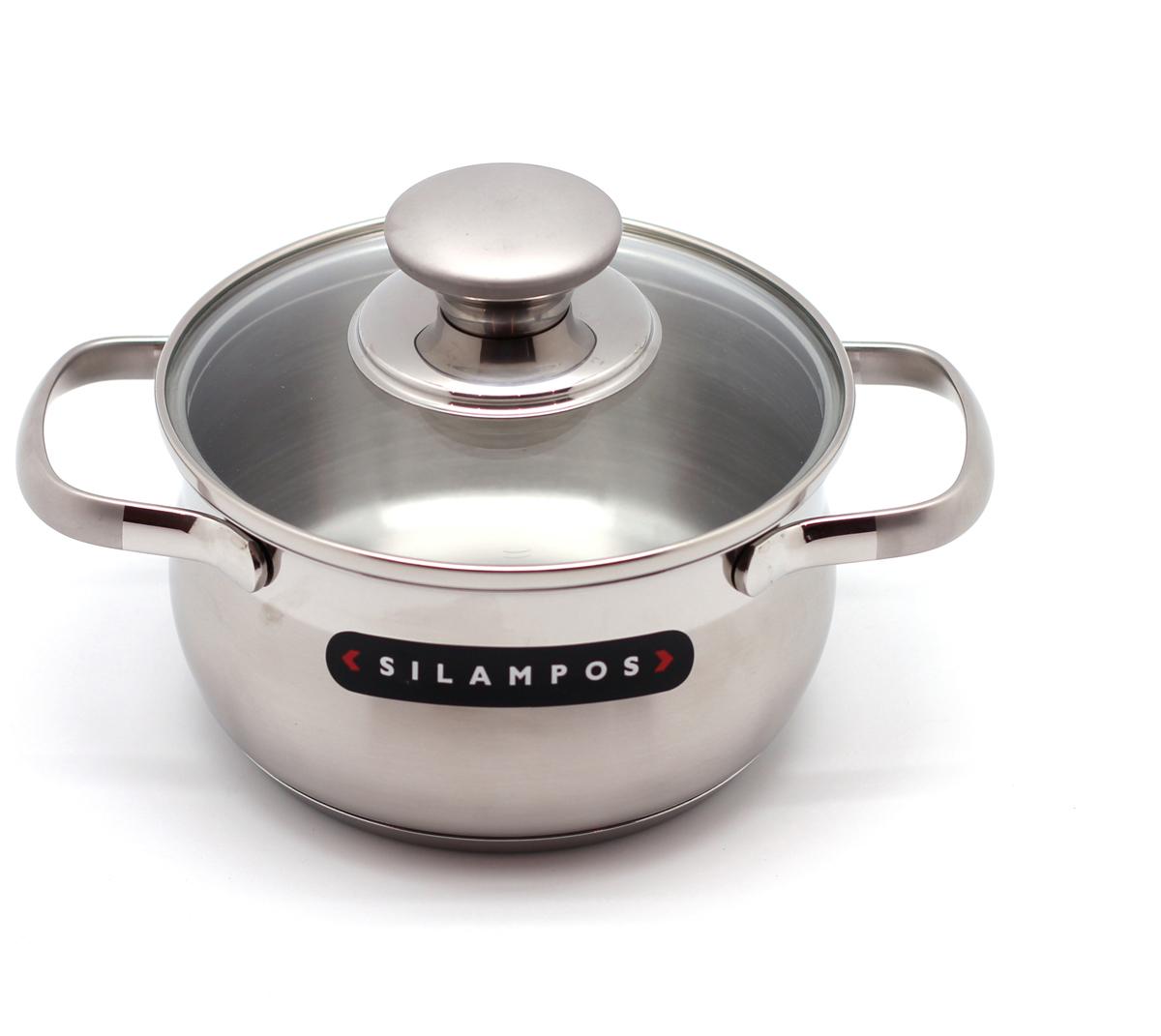 Кастрюля Silampos Роял Сатин, цвет: металл, диаметр 20 см, 2,75 л. 633123V61020633123V61020Кастрюля из серии Роял Сатин компании Silampos. Выполнена в красивом корпусе с выпуклыми стенками из нержавеющей стали 18/10 и имеет толстое трехслойное дно, благодаря чему может быть использована для приготовления любых блюд на всех типах плит, включая индукционные. Матовое покрытие вкупе с полированной полосой и матовыми ручками являются отличительной особенностью дизайна. Ручки, прикрепленные к корпусу методом точечной сварки, очень прочны и практически не нагреваются вместе с кастрюлей. Стеклянная крышка плотно прилегает к краям кастрюли, предотвращая потерю тепла при готовке. Подходит для мытья в посудомоечной машине.