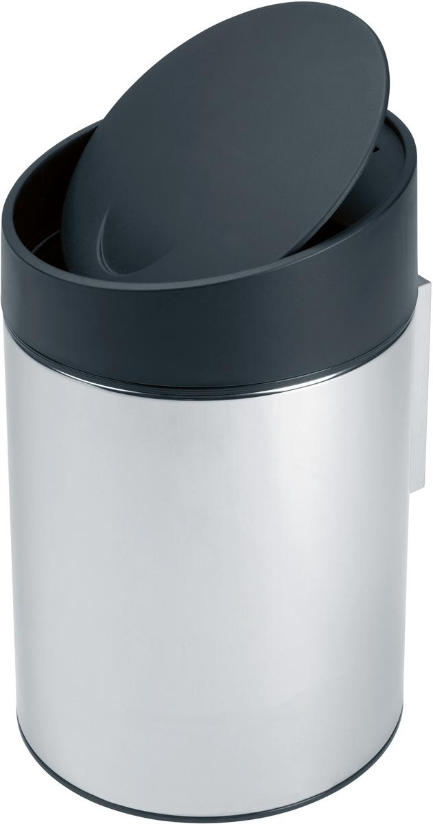 Бак мусорный Brabantia Slide Bin, цвет: стальной полированный, 5 л. 397127 brabantia мусорный бак flipbin 30 л белый