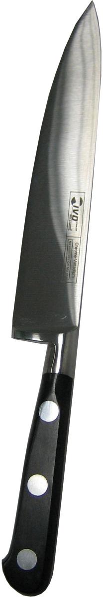 Нож поварской Ivo, длина лезвия 15 см. 80028002Для КомпанииIvo характерно использование последних технологических разработок. Тщательно отобранное сырье и прекрасный дизайн ножей от Ivo отвечает интересам самых требовательных покупателей, а также профессиональных поваров. Чтобы соответствовать этому стандарту, для изготовления ножей была выбрана сталь высочайшего качества.Отличительная особенность ножей фирмы - это безукоризненно острое лезвие, не нуждающееся в заточке. Уход за ножами очень прост! Для поддержания ножей в рабочем состоянии достаточно 1 раз в месяц обработать край лезвия мусатом (специальным точилом). Для чистки ножей подойдут неабразивные моющие средства.Мы представляем новую серию ножей компании Ivo Серия 8000 - Мастер Кухни (Cuisi Master). Эта первоклассная Европейская Коллекция представляет кованые ножи из нержавеющей стали с практически неразрушимыми синтетическими рукоятками. Эти ножи - идеально сбалансированный, гигиенически безопасный инструмент для любой кухни. И, конечно же, все ножи серии 8000 изготовлены из немецкой стали высочайшего качества. Над дизайном умело поработали французские мастера. Длина лезвия: 15 см.Длина ножа: 26 см.Материал: нержавеющая сталь.Страна: Португалия.