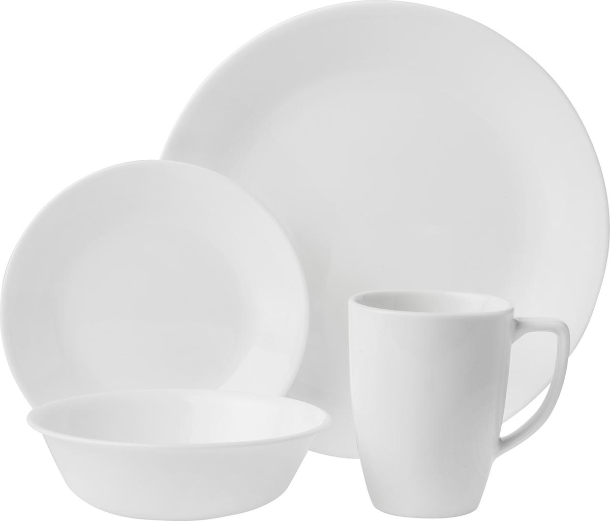 Набор посуды Corelle Winter Frost White, цвет: белый, 16 предметов. 6022003 набор посуды corelle winter frost white цвет белый 16 предметов 6022003