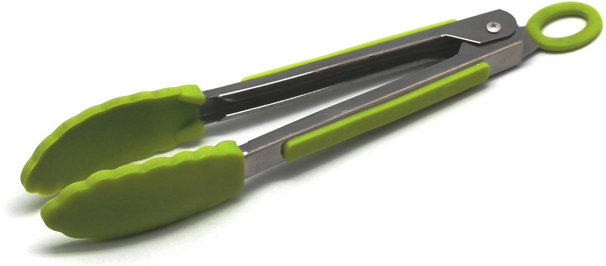 Щипцы кухонные Atlantis, цвет: зеленый, длина 21 см. SC-GD-004-GSC-GD-004-GКухонные щипцы Atlantis идеально подойдут для того, чтобы аккуратно разложитьпорции приготовленной пищи по тарелкам. Щипцы изготовлены извысококачественной стали и силикона. Эргономичные ручки щипцов выполнены ввиде ложек, что позволит легко захватывать пищу. Такие щипцы станут незаменимым аксессуаром на вашей кухне. Можно мыть в посудомоечной машине. Длина щипцов: 21 см.