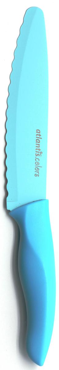 Нож универсальный Atlantis, цвет: синий, длина лезвия 15 см. 6D-B универсальный обойный нож truper nsm 6 16949