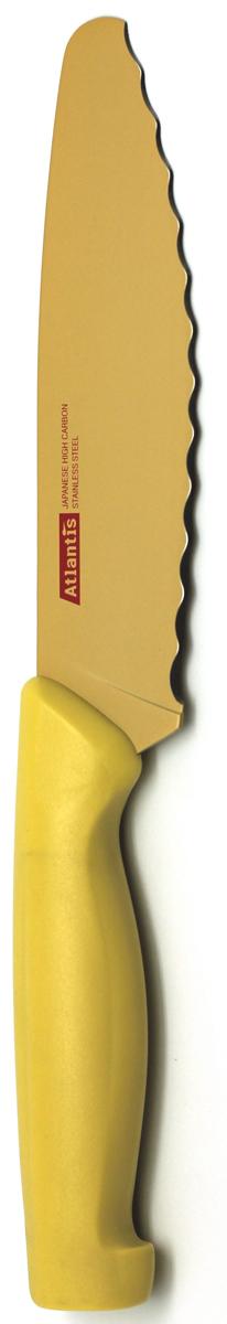 Нож универсальный Atlantis, цвет: желтый, длина лезвия 15 см. 6D-Y универсальный обойный нож truper nsm 6 16949