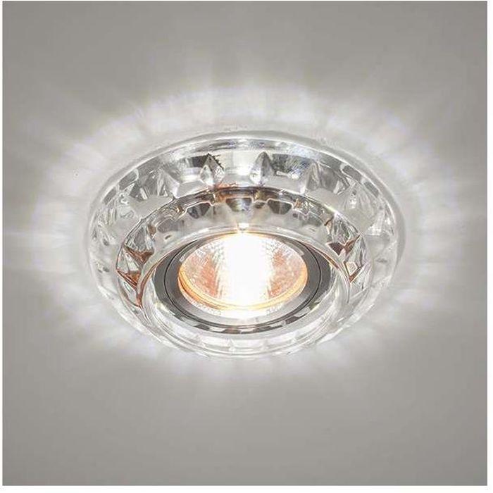 Светильник встраиваемый светодиодный ITALMAC Bohemia LED 51 1 70, MR16, цвет: прозрачный. IT8525IT8525Встраиваемые светильники светодиодные (точечные) позволяют освещать труднодоступные зоны, создают акценты на определенные элементы, что помогает дизайнеру решать различные задачи в оформлении интерьера. Эти широкие возможности точечных элементов освещения позволили им завоевать такую огромную популярность.