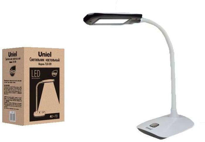 Светильник настольный UNIEL LED TLD-528, 650 лм, 4500 К, цвет: черный. UL-00000418UL-00000418Настольная лампа относится к осветительным приборам, основной функцией которых является создание дополнительного света в определенной зоне, в данном случае – на столе.