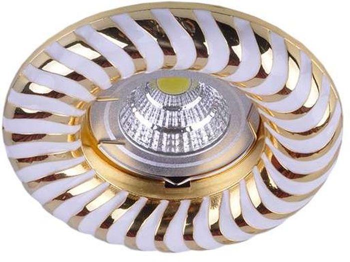 Светильник встраиваемый неповоротный ITALMAC Regal 51 4 46, литой, MR16, цвет: цвет: белый, золотистый. IT8546IT8546Встраиваемые светильники светодиодные (точечные) позволяют освещать труднодоступные зоны, создают акценты на определенные элементы, что помогает дизайнеру решать различные задачи в оформлении интерьера. Эти широкие возможности точечных элементов освещения позволили им завоевать такую огромную популярность.
