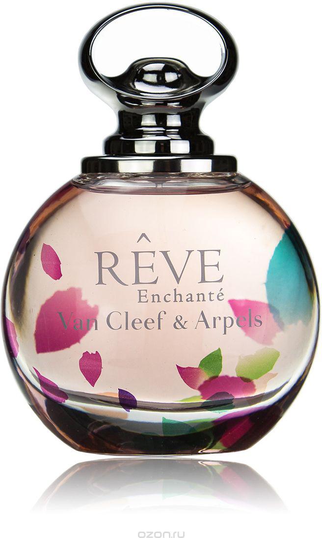 Van Cleef Reve Enchante Парфюмерная вода женская спрей 100 млVCA013E01Утонченный женский аромат Van Cleef & Arpels Reve Enchante, выпущенный в 2015 году известным французским брендом Van Cleef & Arpels стал открытием года. Над созданием этой нежный цветочно-фруктовый новинки работал парфюмер Эмиль Копперман. Ему удалось выпустить для ювелирного бренда романтичный и волнующий коктейль. Аромат является дополнением к весенней ювелирной коллекции бренда, а потому подчеркивает деликатность, элегантность и роскошь. Данная парфюмерная является продолжением традиций ювелирного дома и фланкером уже полюбившегося аромата 2013 года Reve. В новой редакции аромат Van Cleef & Arpels Reve Enchante звучит более трогательно и воздушно. В нем отражается особая деликатность и нежность. Необыкновенно приятный изысканный коктейль адресован молодым и романтичным женщинам, для которых были собраны сочные дольки клементина и груши, украшенные цветами персика и жасмина. Сливочная белая амбра делает аромат еще более роскошным.Краткий гид по парфюмерии: виды, ноты, ароматы, советы по выбору. Статья OZON Гид