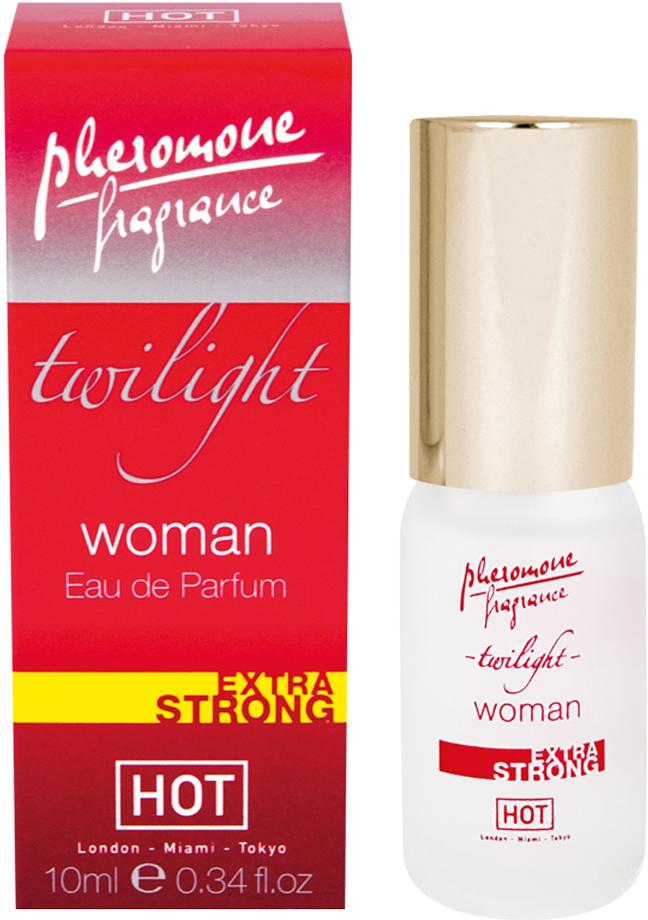 Hot Женские духи с феромонами Twilight extra strong, 10 мл55051Высококачественный парфюм с усиленной формулой феромонов. Это ваш маленький секрет сексуального притяжения.Краткий гид по парфюмерии: виды, ноты, ароматы, советы по выбору. Статья OZON Гид