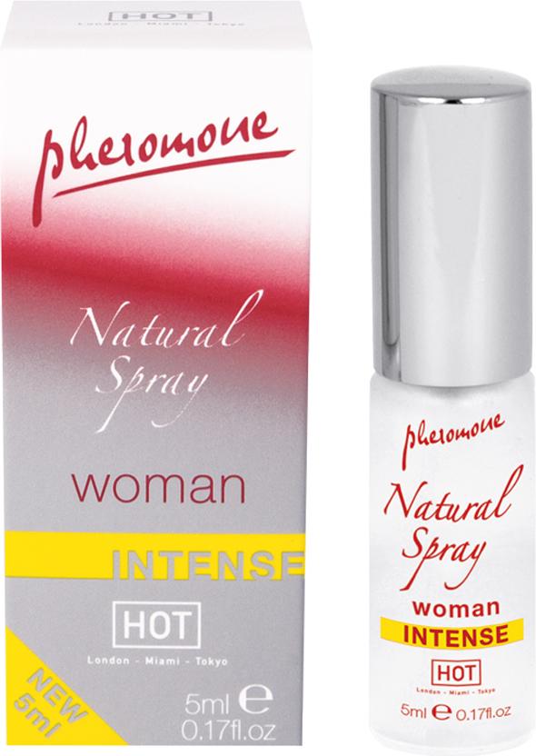 Hot Женские духи с феромонами Natural Spray Intense, 5 мл55057Особенно сильный. Мужчинам, оказавшимся поблизости, можно только позавидовать. Ведь ваш новый секрет – спрей с феромонами. Natural Spray Intense не имеет запаха и незаметно маскируется под ваш ежедневный парфюм. Но это невидимое оружие действует безотказно – отныне вы сама сексуальность!Краткий гид по парфюмерии: виды, ноты, ароматы, советы по выбору. Статья OZON Гид