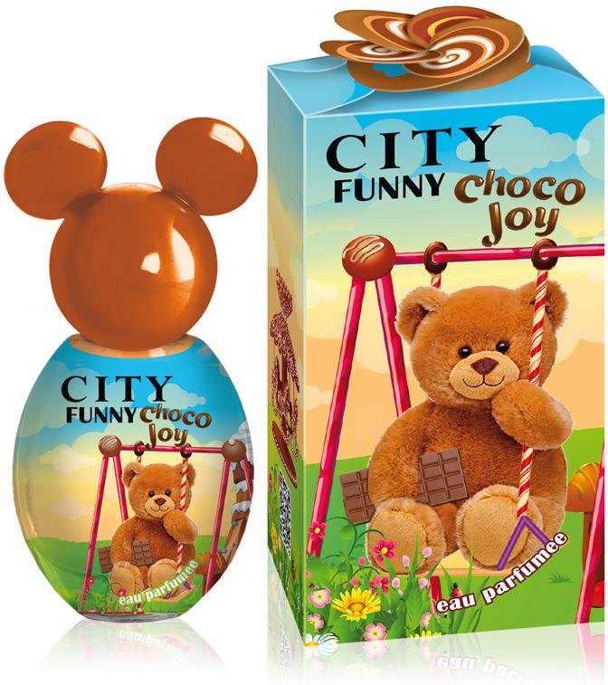 City Funny Choco Joy, душистая вода, 30 мл2001012287Вместе с мягким шоколадным ароматом CITY FUNNY Choco Joy сбывается добрая детская мечта – возможность побывать в настоящей стране сладостей!Теплые нотки какао с тёплым молоком и ириски подарят удивительное настроение и желание ощущать их на себе снова и снова.А завершающий сахарный аккорд обязательно вызовет улыбку! Окунись в сладкие объятия!Краткий гид по парфюмерии: виды, ноты, ароматы, советы по выбору. Статья OZON Гид