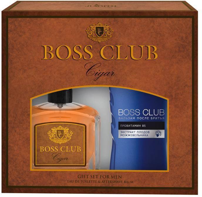 Boss Club Парфюмированный набор: Cigar Туалетная вода, 100 мл + Бальзам после бритья, 150 мл boss бальзам после бритья the scent 75 мл