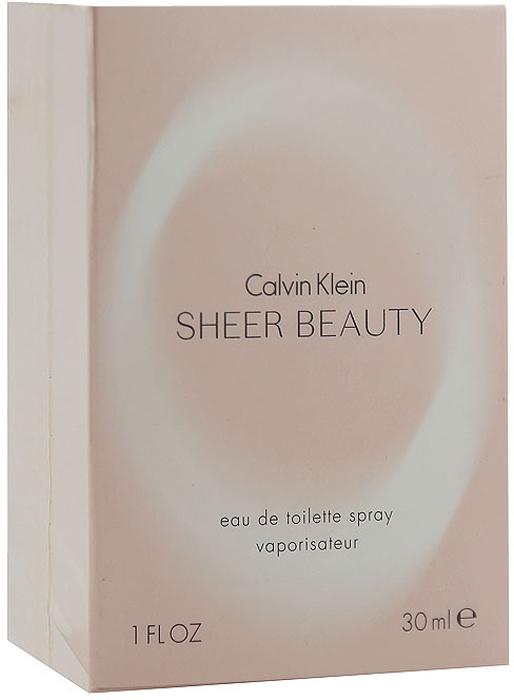 Calvin Klein Sheer Beauty. Туалетная вода, 30 мл туалетная вода calvin klein sheer beauty объем 30 мл вес 80 00