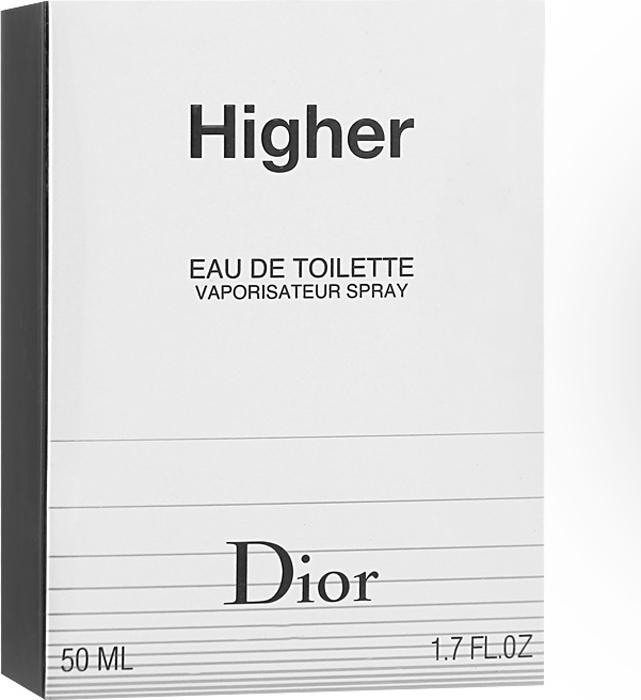 Christian Dior Higher. Туалетная вода, мужская, 50 мл туалетная вода christian dior hypnotic poison