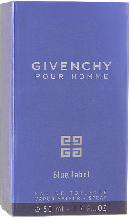 Givenchy POUR HOMME BLUE LABEL Туалетная вода, мужсккая, 50 мл givenchy givenchy мужская туалетная вода gentleman p007295 50 мл