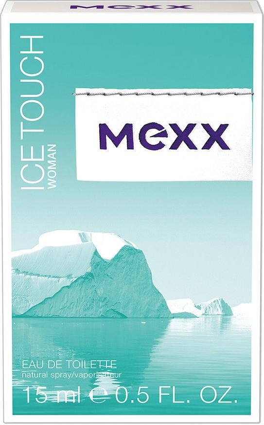 Mexx Туалетная вода Ice Touch Woman, женская, 15 мл0737052824635Ice Touch от Mexx - аромат, в котором флиртуют жар и холод: лед тает, давая волю чувствам, опьяняя и разжигая страсть. Женщина Mexx Ice Touch толкает мужчин на безумства, она настолько дерзкая, что заставляет лед расколоться просто от одного своего взгляда.Классификация аромата: фруктовый, цветочный, водный.Пирамида аромата: Верхние ноты: ежевика, ледяной чай с лимоном, розовый перец. Ноты сердца: листья мяты, белый цикламен, цветы апельсина.Ноты шлейфа: кедр, малина, мускус. Ключевые слова: Это аромат, полный контрастов! Чувственный, освежающий, яркий.Туалетная вода - один из самых популярных видов парфюмерной продукции. Туалетная вода содержит 4-10%парфюмерного экстракта. Главные достоинства данного типа продукции заключаются в доступной цене, разнообразии форматов (как правило, 30, 50, 75, 100 мл), удобстве использования (чаще всего - спрей). Идеальна для дневного использования.Товар сертифицирован.Краткий гид по парфюмерии: виды, ноты, ароматы, советы по выбору. Статья OZON Гид