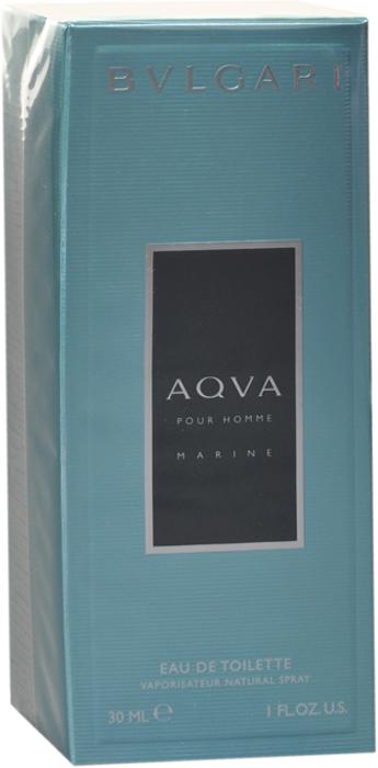 Bvlgari Туалетная вода Aqva Pour Homme Marine, 30 мл bvlgari aqva atlantiqve шампунь и гель для душа 200 мл