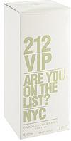 Carolina Herrera 212 VIP. Парфюмированная вода, 80 мл0737052230825Аромат 212 VIP нашел свое вдохновение у молодых и творческих людей Нью-Йорка, которые пишут будущую историю мегаполиса, истинных VIP персон.Яркие эпатажные люди, которые любят и умеют хорошо проводить время. Основная идея аромата «А вы есть в списке?» – фраза, пришедшая из мира VIP, но не имеющая ничего общего с деньгами или известностью. Быть в списке - значит обладать особой жизненной позицией и неординарными личностными характеристиками. 212 VIP веселый, праздничный, цветочный аромат, который сочетает в себе стиль и отношение к жизни, покоряя тремя своими основными гранями. Ноты пьянящего рома и экзотической маракуй воплощают с собой аккорд вечеринки. Взрывной коктейль, которым можно наслаждаться в любое время! Светский аккорд - отличительная черта нового поколения 212 VIP. Он передается нотами всепоглощающего мускуса и изысканной гардении. Аура исключительности. Наконец, стильный аккорд заключен в ингредиентах, придающих аромату обворожительный шарм: восхитительная ультра-женственная ваниль и чувственные бобы Тонка, создают неповторимое изысканное очарование.Верхняя нота: Горький апельсин, маракуйя. Средняя нота: Гардения, ром. Шлейф: Бензоин, ваниль. Ром и Маракуйя - вот правильный рецепт крутой вечеринки.Краткий гид по парфюмерии: виды, ноты, ароматы, советы по выбору. Статья OZON Гид